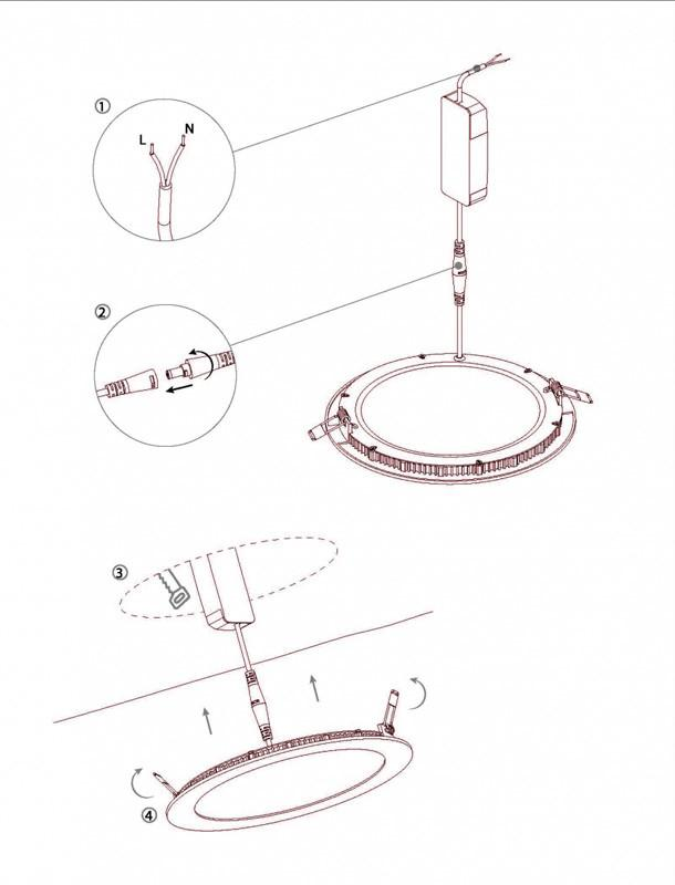 Drop In Round Led Panel Light